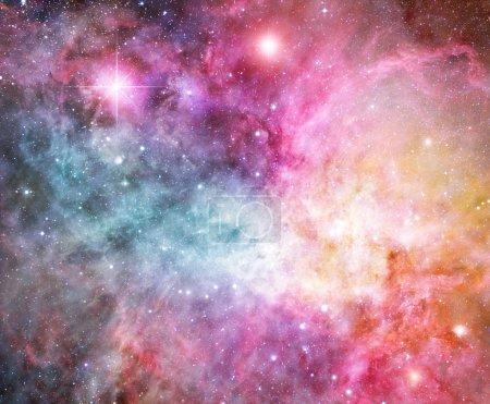 Pink and blue nebula