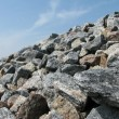 The crushed stones...