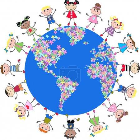 enfants ethniques mixtes