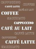 Coffee print background