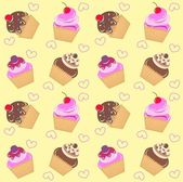 Seamless cupcake pattern