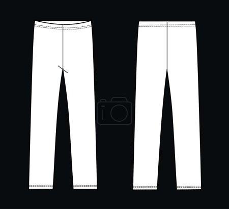Garment sketch leggings pants