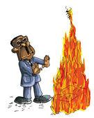 Caricature of Robert Mugabe
