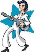 Cartoon of an Elvis Impersonator