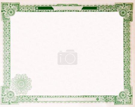Photo pour Vierges US stock délivré en 1914. la plupart du certificat a été supprimé, il suffit donc les restes de boarder. - image libre de droit
