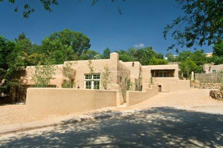 Modern adobe home in Santa Fe, New Mexico...