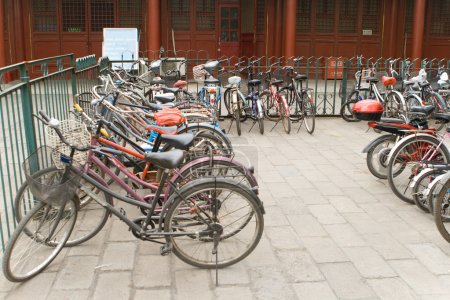 Bikes Row, Bicycle Parking Lot, Beijing, China