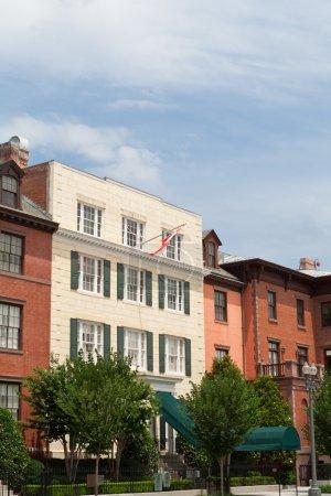 Blair House Canadian Flag Row Home Washington DC
