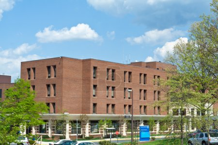 Brick Office Building Trees Suburban MD USA