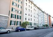 rangée d'immeubles d'habitation, rues scène Genève Suisse