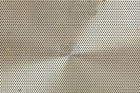 Full Frame Abstract of an Old Metal Speaker Screen