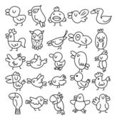 hand draw bird element