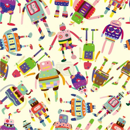 Illustration for Seamless robot pattern - Royalty Free Image