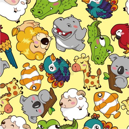 Illustration for Seamless animal pattern - Royalty Free Image