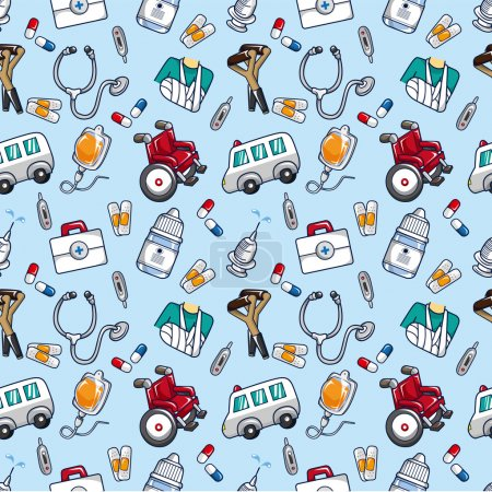 Illustration for Seamless doctor pattern - Royalty Free Image