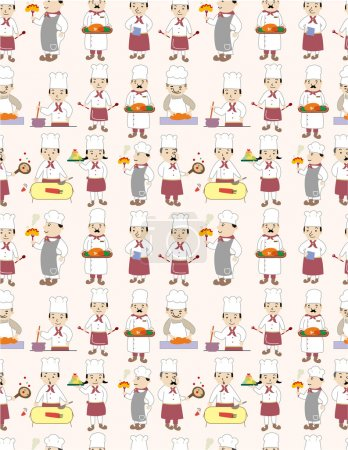 Illustration for Seamless chef pattern - Royalty Free Image