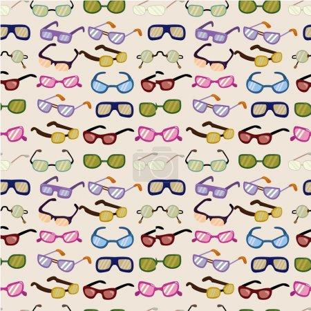 Seamless cartoon Glasses pattern