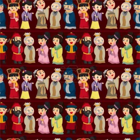 cartoon Chinese seamless pattern