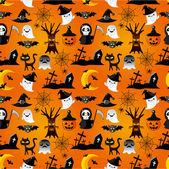 cartoon Halloween seamless pattern