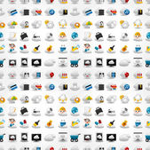 Icons for Cloud network seamless pattern