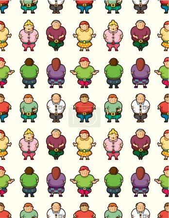 Cartoon Fat seamless pattern