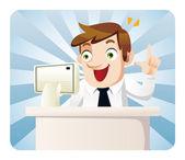 cartoon office worker