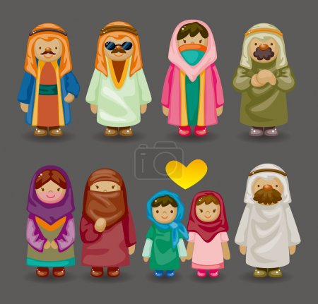 Cartoon Arabian icons