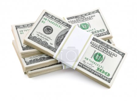 Packed dollar money