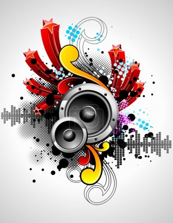 vector illustration for a musical theme