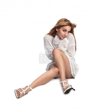 Young high heels blond