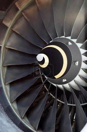 Airplane's jet engine