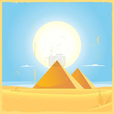 Giza Pyramid Square Poster