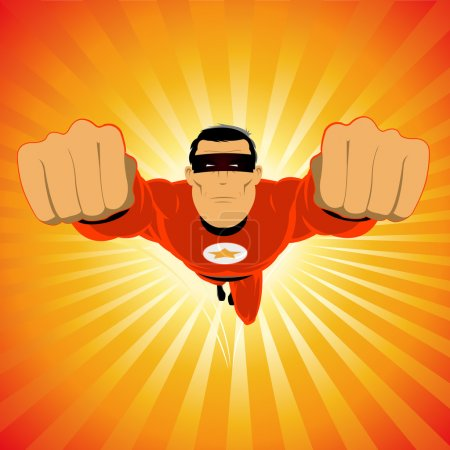 Comic-like Red Super-Hero