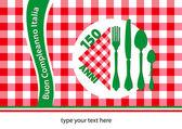 Happy birthday Italy 150 anniversary edition table-cloth