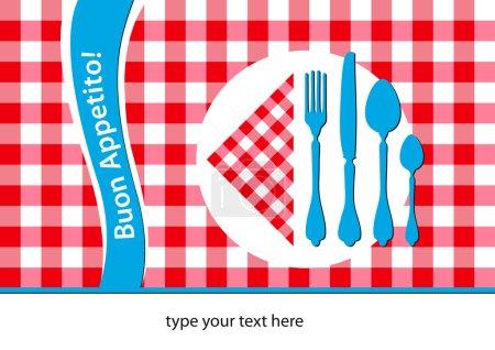 Italian restaurant table cloth