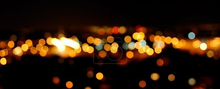 Photo for Photo of glittering lights in night city. - Royalty Free Image