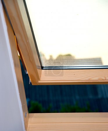Open roof window in new house.