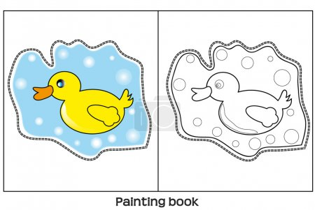 Paiinting book wiith duck