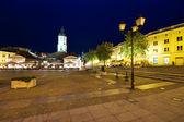 Town square in Białystok at night, Poland