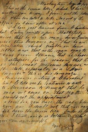 Foto de Antiguo manuscrito - Imagen libre de derechos