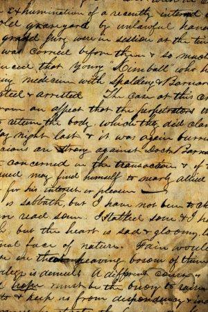 Photo pour Ancienne lettre - image libre de droit