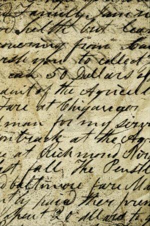 Foto de Manuscrito en papel antiguo - Imagen libre de derechos