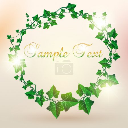 Beautiful Circle Decorated Ivy Leaf Background