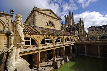 Photo pour Thermes romains et Abbaye de bath, bath, somerset, Royaume-Uni - image libre de droit