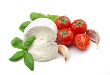 Mozzarella, Basilikum und Knoblauch