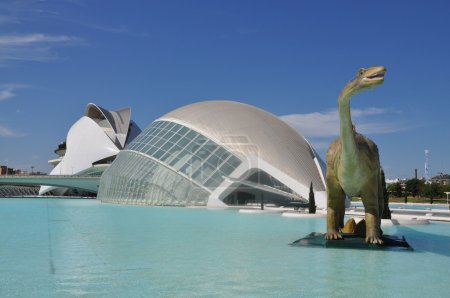 ROBOTIC DINOSOUR AT CITY OF SCIENCE, VALENCIA, SPAIN